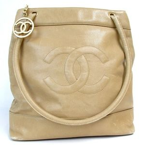 Auth Chanel Cc Mark Caviar Skin Circle #1471C21